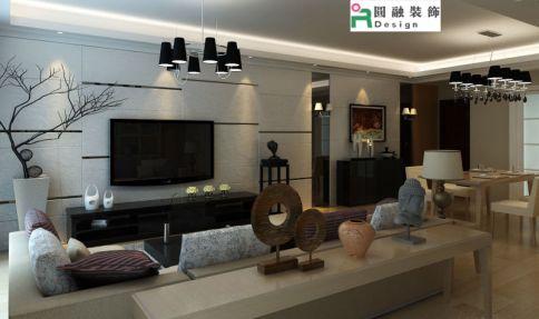 中山雅居乐佰利山现代四居室装修效果图