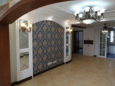 廊坊河孔雀城紫藤园23号楼美式四居室装修效果图