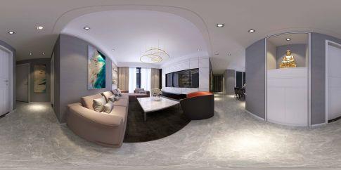 泉州安泰劃界城简约三居室装修效果图