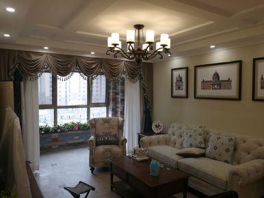 廊坊河孔雀城紫藤园10号楼美式三居室装修效果图