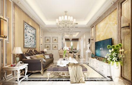 泉州香缤国际欧式三居室装修效果图