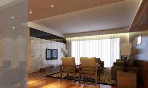 中山雅居乐现代三居室装修效果图