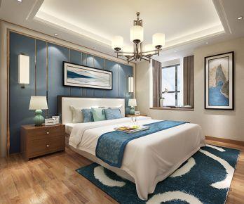 泉州新天城市广场现代三居室装修效果图
