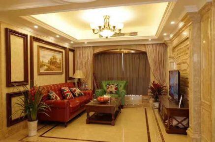 武汉卧龙墨水湖边欧式三居室装修案例欣赏