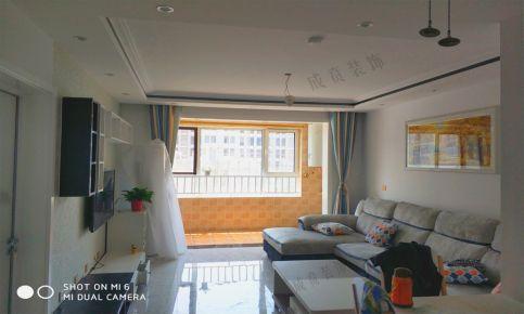 济南山钢新天地简约三居室装修效果图