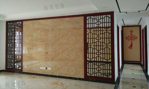 济南华山龙城中式三居室装修效果图