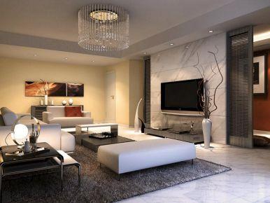 嘉兴绿景华庭现代风格三居室装修效果图