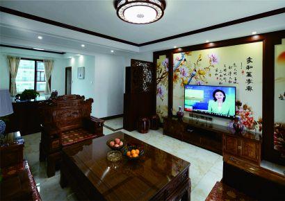 长沙轻盐阳光城中式四居室装修效果图