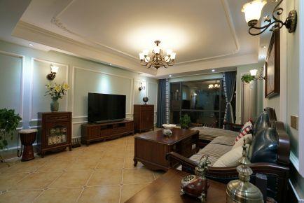 长沙兰亭湾畔美式三居室装修效果图
