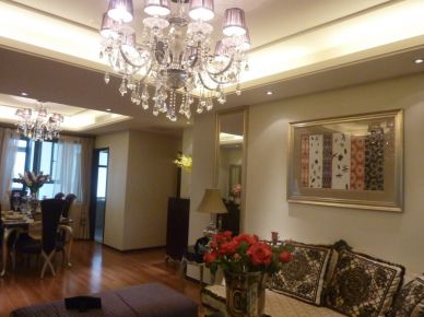天津云锦世家133平米现代三居室装修效果图