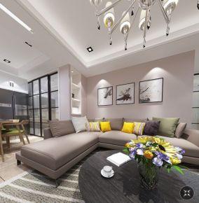 温州黄龙康城现代两居室装修案例