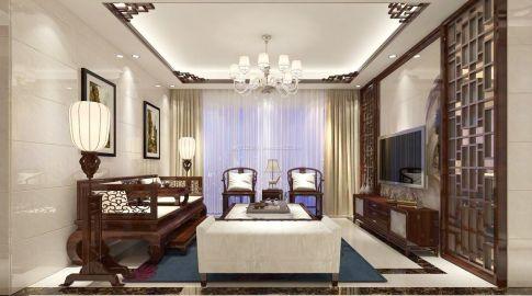 嘉兴中式风格三居室装修案例