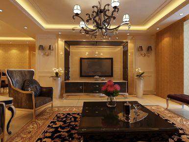 天津金地紫云庭现代风格三居室装修效果图