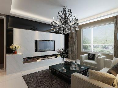天津金地紫云庭简约三居室装修效果图