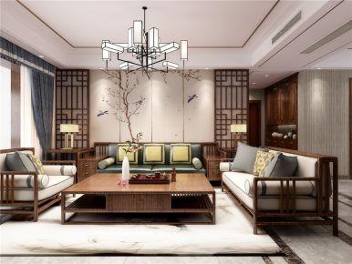 洛阳香槟国际新中式三居室装修效果图