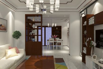济南景和家园中式三居室装修效果图