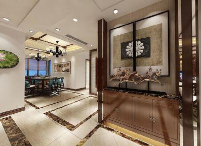嘉兴江总新居中式风格三居室装修效果图