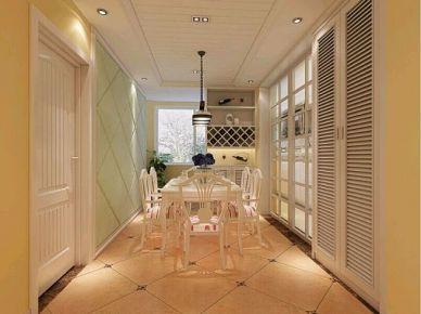 嘉兴皇马公寓田园风格三居室装修效果图