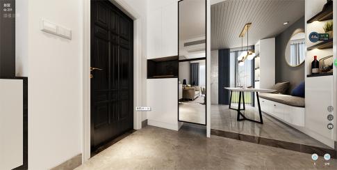 长沙洋湖时代简约三居室装修案例