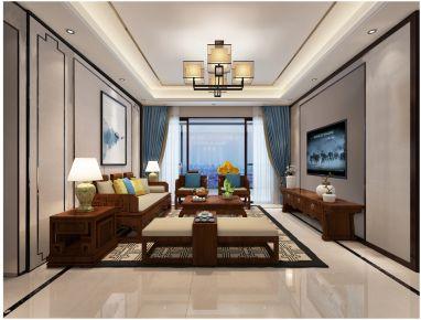 广州龙湖天宸原著新中式四居室装修效果图