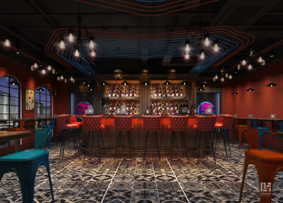 珠海弥生酒吧装修效果图