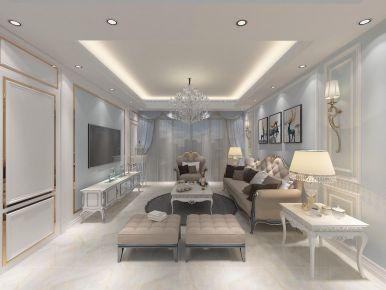 合肥及第城简美风格三居室装修案例