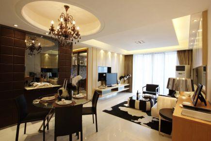 珠海中澳世界城现代三居室装修案例