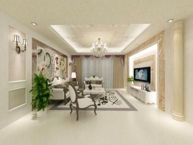 长沙金桂小区现代风格三居室装修效果图