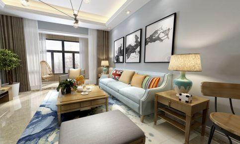 昆明时代俊园现代三居室装修效果图