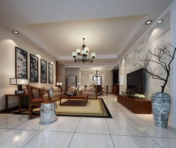 惠州美式风格三居室效果图