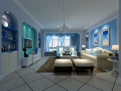 惠州地中海风格两居室装修效果图