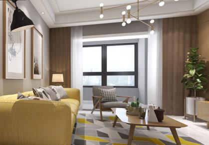 领尚三居室装修设计 北欧风格家庭装修设计欣赏