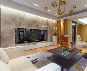 佛山凯旋国际现代简约三居室装修效果图