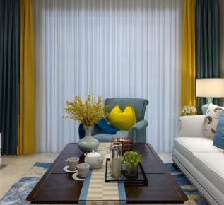 宁波天瑞峰景里三房装修 小美风格家庭装修设计欣赏