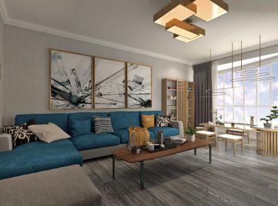 新中式风格三房装修设计案例 洛阳高层次人才小区