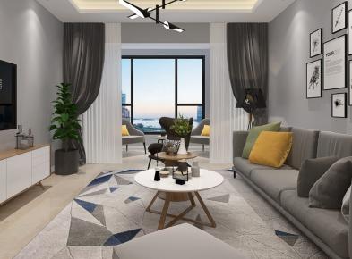 宁波光明领御三房装修  现代风格家装效果图欣赏