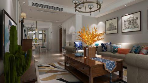 美式风格四房家庭装修设计欣赏 洛阳阳光华府小区