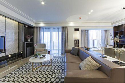 佛山南海万科广场现代简约四居室装修效果图