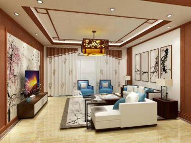 长沙现代风格三居室装修效果图