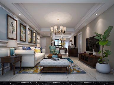 美式风格三房装修案例欣赏 宁波山清轩