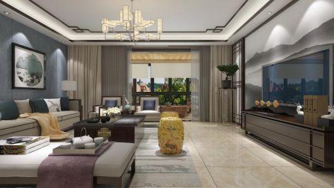 中式风格四房装修设计欣赏 洛阳一品雅居小区