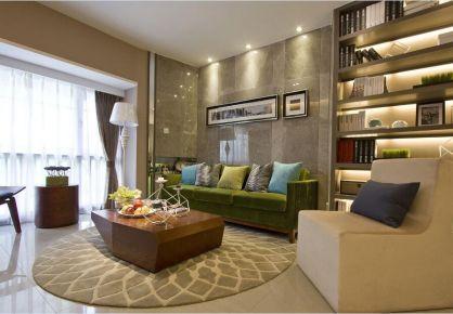 佛山南海万达华府现代三居室装修效果图