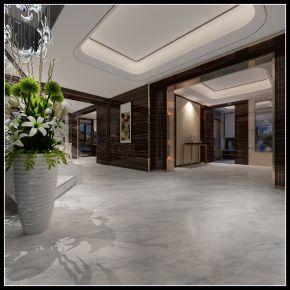 泉州中铁元湾现代风格四居室装修案例