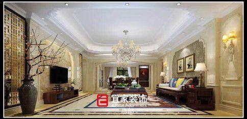 泉州欧式风格四房装修设计效果图 天峰小区