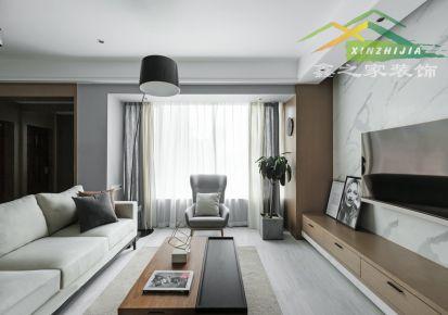 合肥95平简约风格三居装修设计
