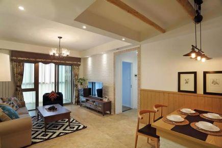 长沙湖湘奥林匹克花园简约三居室装修效果图