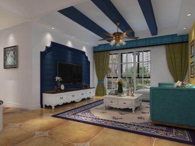 贵阳地中海风格三房装修 三居室地中海风格装修效果图