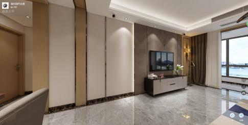 长沙及第现代三居室装修效果图