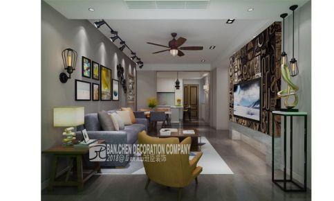 温州爱情海岸欧式三居室装修效果图