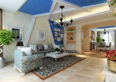 天津格调艺术简约三居室设计效果图